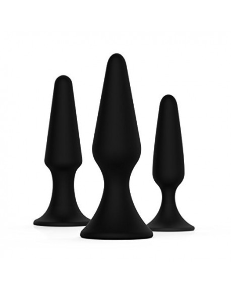 Luxury Silicone Anal trainer Butt Plug 3Pcs