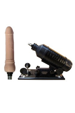 Automatic Masturbator Sex Machine Sucker Pumping & Thrusting Adjustable Dildo Telescopic No Handheld Shoot Gun