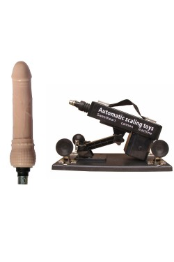 Sex Machine Super Automatic Pumping & Thrusting Adjustable Dildo Masturbation Handheld Shoot Gun