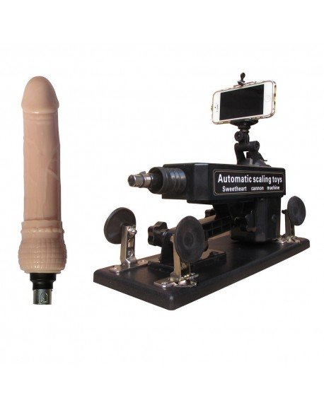 Automatic Masturbator Sex Machine 6 cm Retractable 100% Orgasm with Selfie Bluetooth Remote