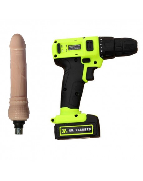 Handheld Electric Drill Sex Machine 17 Speed Automatic Thrusting Love Machine Gun Sex Furniture with Lithium Battery+Dildo